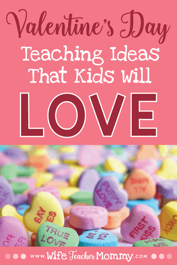 These valentine's day teaching ideas include fun and engaging Valentine's Day teaching activities. These include candy heart math, conversation heart activities, Valentine's Day crafts for kids, Valentine's day worksheets, February sub plans, and more! Low prep and no prep Valentine's Day teaching ideas included for elementary grades. Also contains great homeschool ideas! Kindergarten, 1st grade, 2nd grade, 3rd grade, 4th grade, and 5th grade. #wifeteachermommy #teachersfollowteachers #iteach #teaching