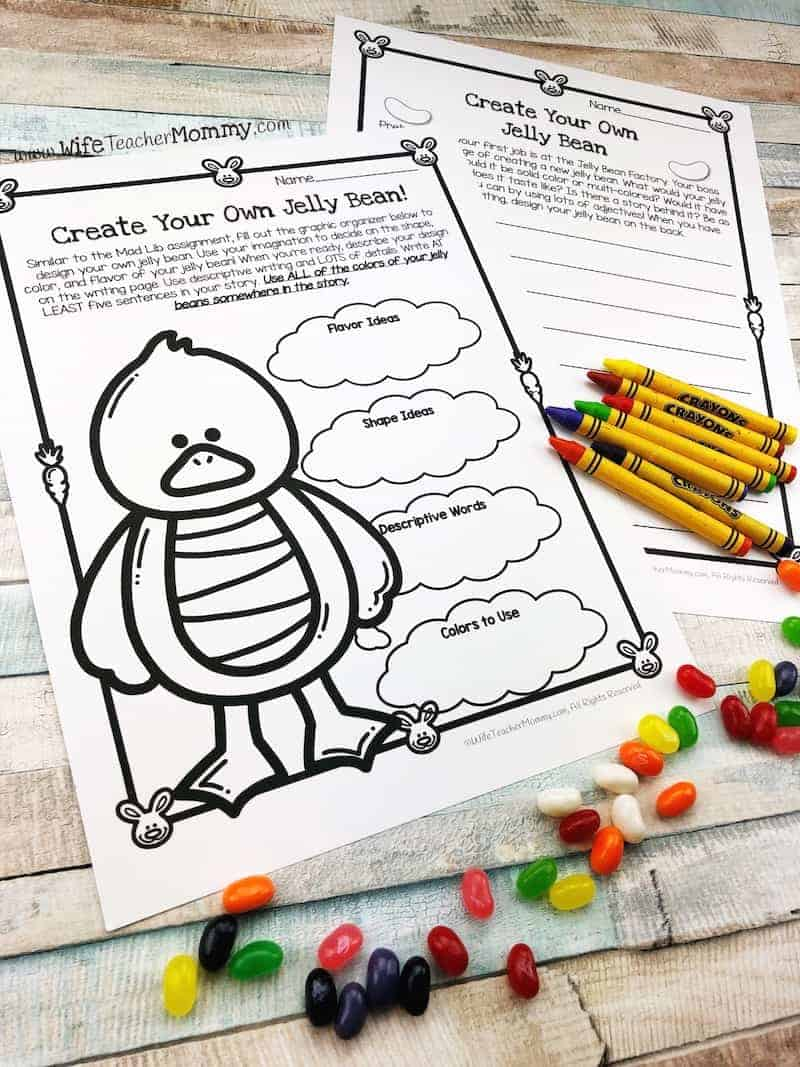 Easter writing activities are included with all sets of my Jelly Bean Math & More! Great Easter teaching ideas and activities in this packet.