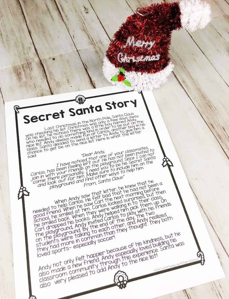 Secret Santa writing is a fun and engaging classroom community building activity! The writing prompts promote kindness in the classroom and your students will love being sneaky! Secret student activities are available for every month of the year.