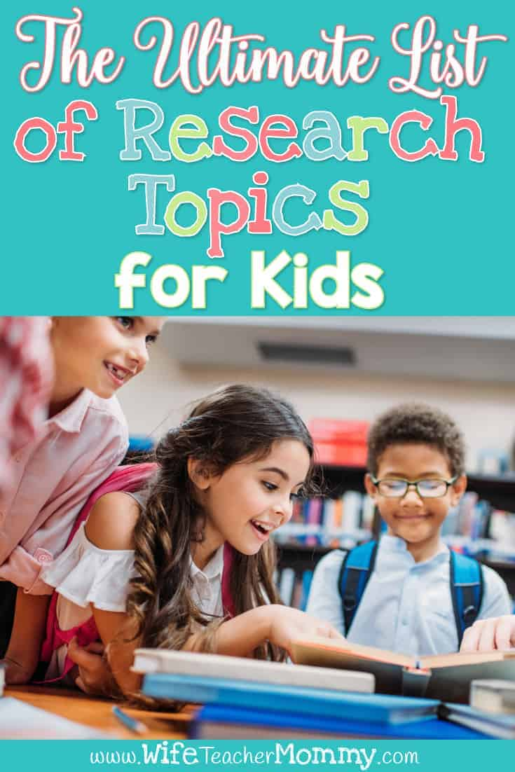 Looking for science or social studies topics for your students to research? Check out our list of research topics for kids. These fun and engaging activities are perfect for students to practice their research skills for a research unit or project. Kids can use informational text and fill out their research journal, outline, & graphic organizer. Resources, products and a free printable are included in this post. Lots of tips for teaching research on website. Fits common core and other standards.