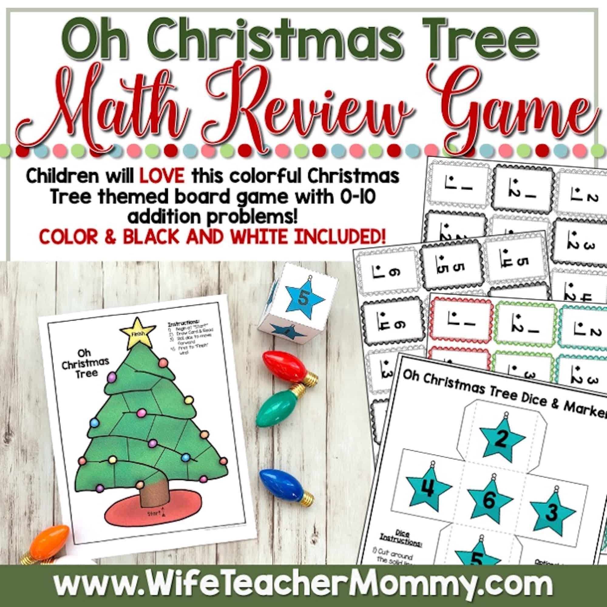 December Homeschool Lessons For Kindergarten Math