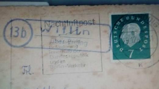 Alter Poststempel von Wifling