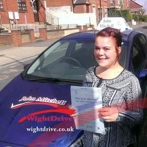 emma-collins-driving-test-pass-2014-with-john-mitchell-isle-of-wight-driving-instructor