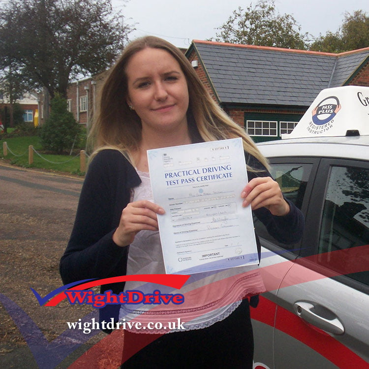 jade-shipley-driving-test-pass-2014-with-john-mitchell-isle-of-wight-driving-instructor