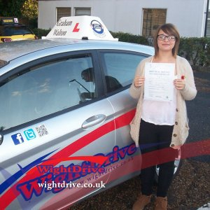 Dawn-Turner-driving-test-pass-2014-with-Graham-Walton-isle-of-wight-driving-instructor