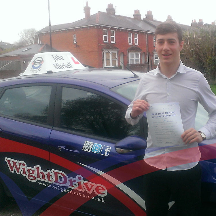 ed-newnham-driving-test-pass-2014-with-john-mitchell-isle-of-wight-driving-instructor