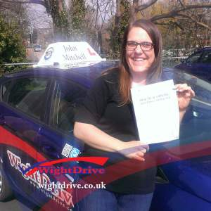 Joanna-White-driving-test-pass-2015-with-John-Mitchell-isle-of-wight-driving-instructor