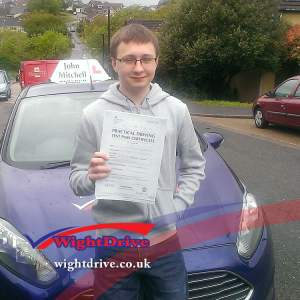 Phillip-Brown-driving-test-pass-2015-with-John-Mitchell-isle-of-wight-driving-instructor