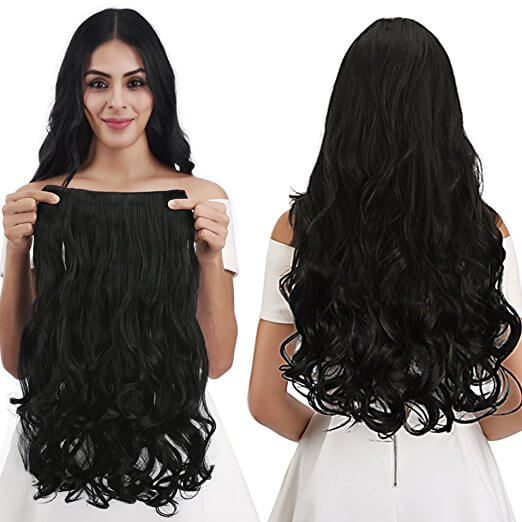 Reecho Full Head Curly Wave Clips