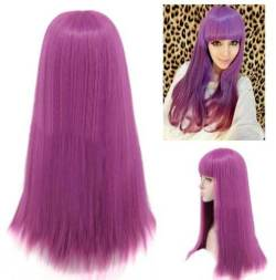 Straight Purple Synthetic Wig