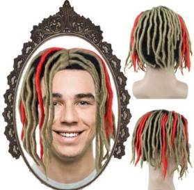 Blonde Red Dreadlock Wig