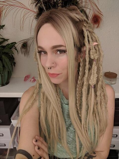 Locks Ash Blonde Ombre Dreadlock Wig