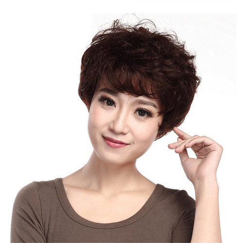 Machine Weft Brazilian Human Hair Mommy Wig