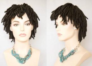 Short Black Brown Dreadlock Wigs