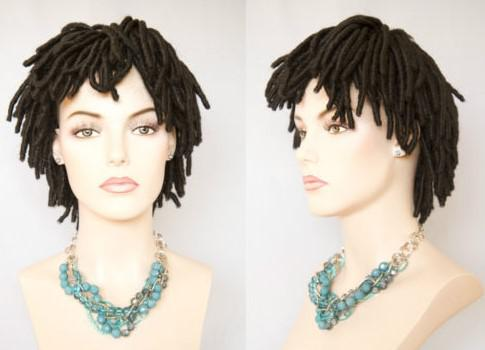 Short Black Brown Dreadlock Wigs