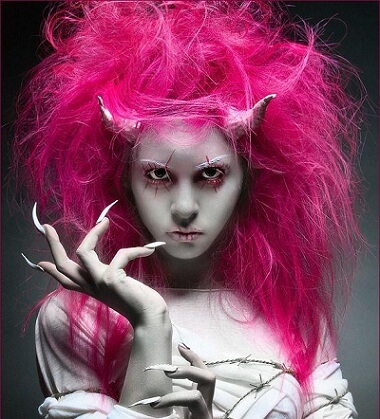 Pink Witch Wig