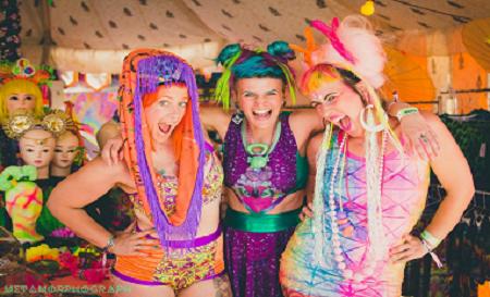 Rainbow Serpent Festival wig