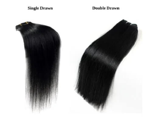Single Drawn vs Double Drawn Hair Extension