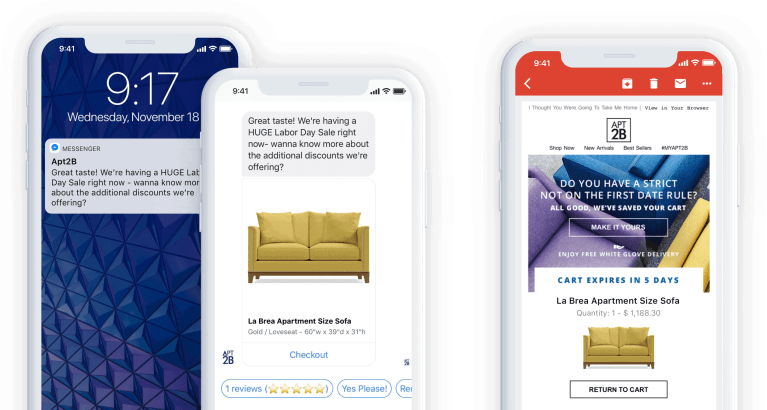 Use Messenger chatbots for abandoned cart recovery