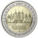 2 Euro Deutschland 2007 Schweriner Schloss