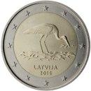 Lettland 2015 2 Euro Schwarzer Storch