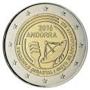 Andorra 2016 2 Euro Münze 25 Jahre Rundfunk und Fernsehen