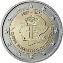 Belgien 2012 2 Euro Münze Königin Elisabeth Wettbewerb