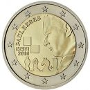 2 Euro Estland 2016 Geburtstag Paul Keres
