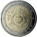 Euroeinführung 2 Euro Portugal 2012
