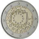 Europaflagge Niederlande 2015 Gemeinschaftsserie 2 Euro