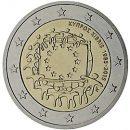 Europaflagge Zypern 2015 Gemeinschaftsserie 2 Euro