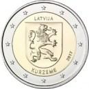 2 Euro Lettland 2017 Regionen Kurzeme
