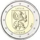 Lettland 2017 2 Euro Regionen Ladgale
