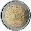 Römische Verträge Spanien 2 Euro Münze