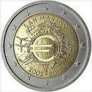 2 Euro San Marino 2012 Münze 10 Jahre Euroeinführung