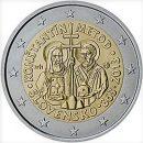 Slowakei 2013 2 Euro Münze Konstantin und Method