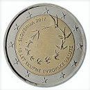 Slowenien 2017 2 Euro Münze 10 Jahre Eurojubiläum