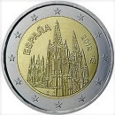 Spanien 2012 2 Euro Münze UNESCO Weltkulturerbe Kathedrale von Burgos