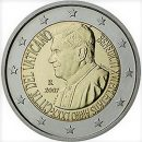 Vatikan 2007 2 Euro Münze 80. Geburtstag Papst Benedict XVI