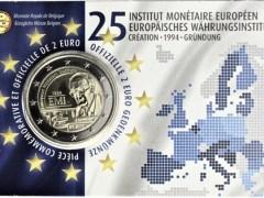 Belgien 2019 2 Euro Münze Europäisches Währungsinstitut in der Coincard
