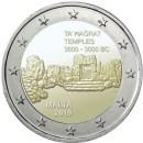 Malta 2019 2 Euro Münze Tempelanlage Ta Hagrat