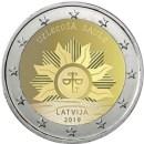 Lettland 2019 2 Euro Münze Die aufgehende Sonne
