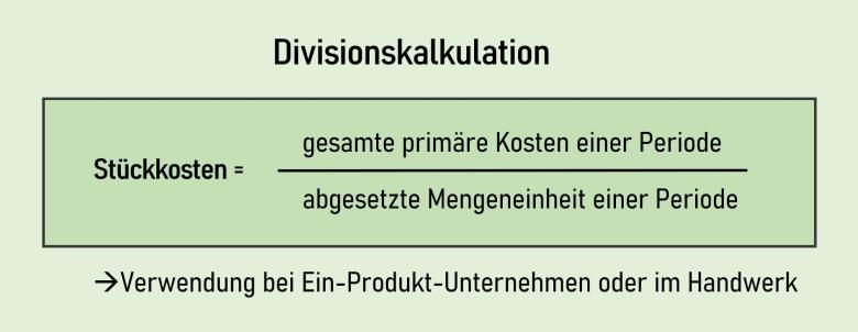 Divisionskalkulation Berechnung