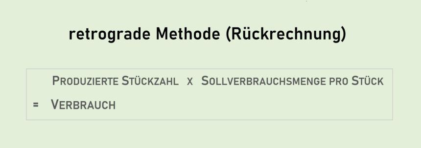 Rückrechnung - Retrograde Methode