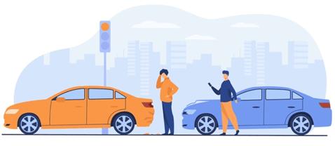 Autounfall -Kfz-Versicherungsvergleich