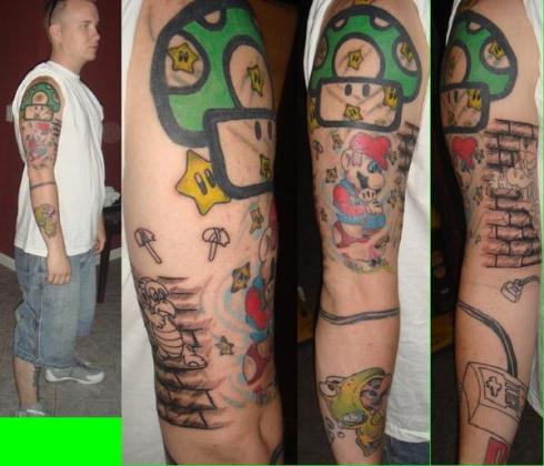 Mario Tattoo Sleeve, and tell everyone about your love for the game.