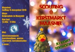 Kerstvossenjacht tijdens de kerstmarkt 2019