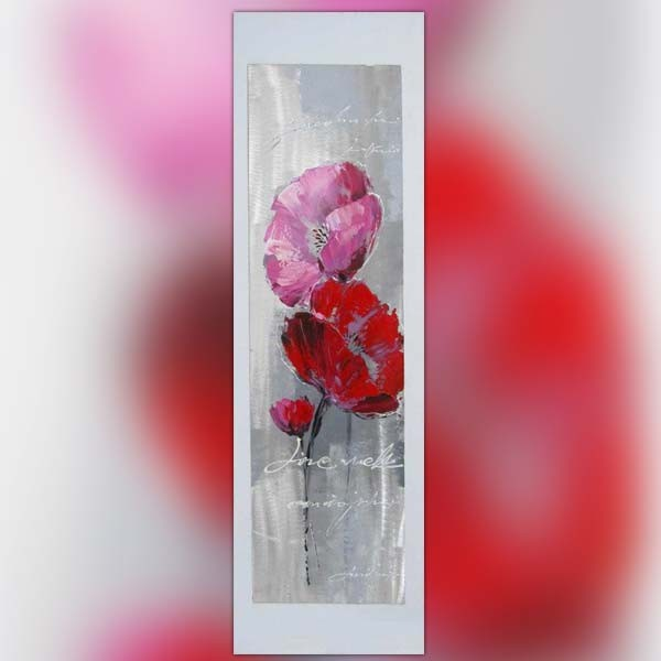 Tableau De Fleur Peinture Pour Amoureux 40 X 120 Cm