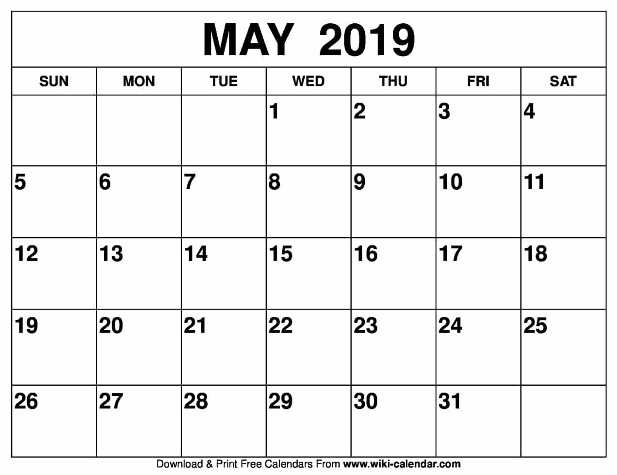 Blank May Calendar Printable On We Heart It