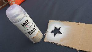 estrella con chalk pain para muebles con palets